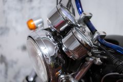 Parte d'annata del motociclo, concetto del trasporto fotografia stock libera da diritti