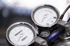 Parte d'annata del motociclo, concetto del trasporto fotografia stock