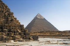 Parte da alvenaria da pirâmide Fotos de Stock