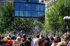 Parte 3 96 da batalha NYC 2015 da bolha Imagem de Stock Royalty Free