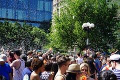 Parte 3 95 da batalha NYC 2015 da bolha Fotografia de Stock Royalty Free