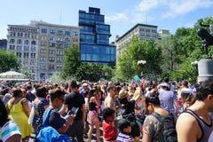 Parte 3 29 da batalha NYC 2015 da bolha Imagem de Stock Royalty Free