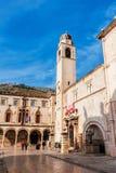 Parte da cidade velha de Dubrovnik, local do patrimônio mundial de um UNESCO fotos de stock