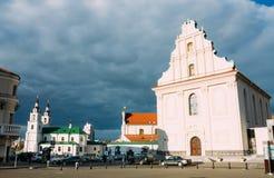 Parte da cidade velha - monte da trindade - centro histórico (Nemiga) Foto de Stock