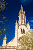 Parte da igreja de Santa Eulalia em Palma Imagem de Stock