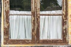 Parte da janela velha do vintage Imagens de Stock Royalty Free