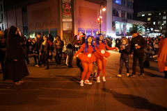 A parte 2015 da parada de Dia das Bruxas da vila 4 57 Fotografia de Stock Royalty Free