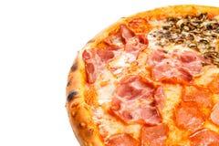 Parte da pizza italiana clássica deliciosa quatro estações Fotografia de Stock