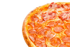 Parte da pizza italiana clássica deliciosa quatro estações Fotografia de Stock Royalty Free