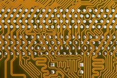 Parte da placa dos circuitos impressos Fotos de Stock Royalty Free