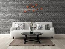 Parte da rendição moderna do design de interiores 3D Imagens de Stock Royalty Free