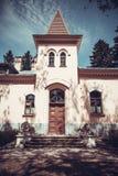 Parte da restauração velha da casa senhorial Imagens de Stock Royalty Free