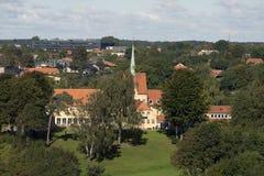 Parte da skyline de Fredericia Fotografia de Stock Royalty Free