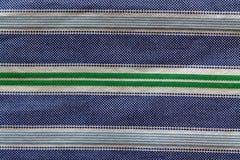 Parte da textura azul esverdeado ou do fundo da camisa listrada Imagens de Stock Royalty Free