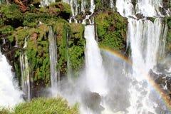 Parte das cachoeiras as mais grandes na terra imagem de stock