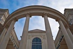 Parte de arriba de columnas Imagenes de archivo