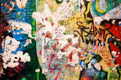 Parte de Berlin Wall com grafittis Fotografia de Stock
