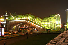 Parte de Bogdan Khmelnitsky Bridge pedestre fotos de stock royalty free