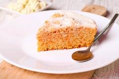 Parte de bolo de cenoura Foto de Stock
