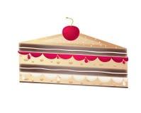 Parte de bolo da fruta Fotos de Stock Royalty Free