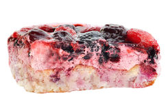 A parte de bolo da fruta Fotografia de Stock