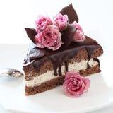 Parte de bolo de chocolate Fotografia de Stock Royalty Free