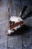 Parte de bolo de chocolate caseiro Fotografia de Stock