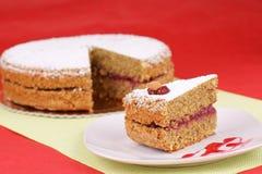 Parte de bolo de trigo mourisco Fotografia de Stock