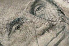 Parte de cinco dólares Bill Macro Imagens de Stock
