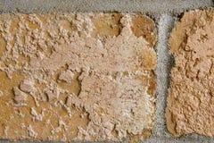 Parte de dois tijolos de Brown Fotos de Stock