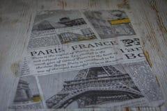 Parte de jornal com fotos Foto de Stock