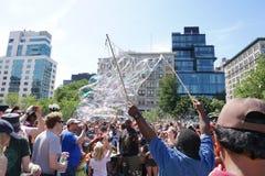 Parte 3 33 de la batalla NYC 2015 de la burbuja Imagen de archivo