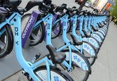 Parte de la bici del Divvy en Chicago imagen de archivo