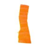 Parte de la cáscara de la mandarina aislada en blanco Fotos de archivo