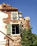 Parte de la casa de la ruina Imagenes de archivo