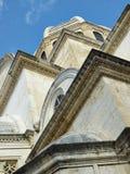 Parte de la catedral de San Jaime en Sibenik Imagen de archivo libre de regalías