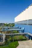 Parte de la central eléctrica de calor Foto de archivo