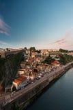 Parte de la ciudad de Oporto en Portugal Imagen de archivo libre de regalías