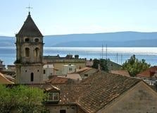 Parte de la ciudad vieja de Omis 2 fotografía de archivo
