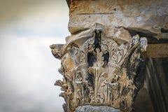 Parte de la columna romana Imagen de archivo libre de regalías