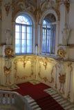 Parte de la escalera principal del palacio del invierno Imágenes de archivo libres de regalías