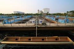 Parte de la escena de la depuradora de aguas residuales  Fotografía de archivo