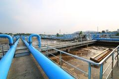 Parte de la escena de la depuradora de aguas residuales  Fotos de archivo