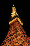 Parte de la escena de la noche de la torre de Tokio Imagenes de archivo