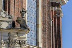 Parte de la iglesia barroca del estilo fotografía de archivo libre de regalías