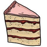 Parte de la línea Art Vector Illustration Clip Art de la torta Fotos de archivo libres de regalías