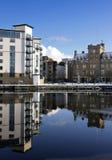 Parte de la orilla, muelles de Leith, Edimburgo Foto de archivo libre de regalías