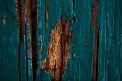 Parte de la puerta de madera verde vieja Fotografía de archivo libre de regalías