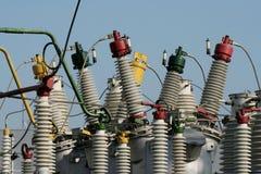 Parte de la subestación de alto voltaje Imagenes de archivo