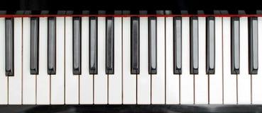 Parte de llaves del piano Fotos de archivo libres de regalías